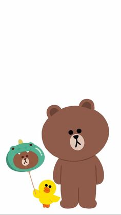 Lines Wallpaper, Brown Wallpaper, Bear Wallpaper, Line Cony, Sally Brown, Simple Character, Cute Couple Cartoon, Baby Milestone Cards, Brown Line