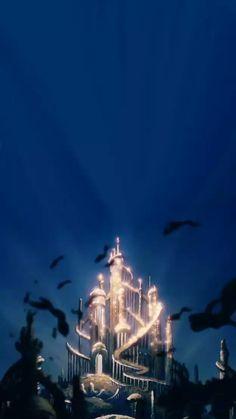 Think you're a Disney buff? Test your knowledge of Disney castles in this trivia challenge! Walt Disney, Disney Pixar, Cute Disney, Disney Animation, Disney And Dreamworks, Disney Magic, Disney Art, Little Mermaid Wallpaper, Mermaid Wallpapers