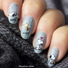 Panda Nail Art, Dog Nail Art, Animal Nail Art, Dog Nails, Nail Art Designs, Girls Nail Designs, Halloween Acrylic Nails, Best Acrylic Nails, Super Cute Nails