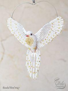 Blanca Paloma Suncatcher ornamento de la paloma por AlulaCreations