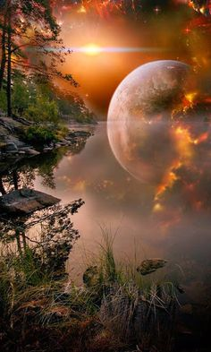 63 Ideas Photography Night Sky Earth For 2019 Beautiful Moon, Beautiful World, Beautiful Places, Moon Pictures, Pretty Pictures, Moon Photos, Shoot The Moon, Montage Photo, Amazing Nature