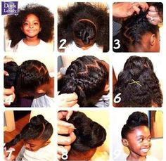 Natural updo for the kiddies