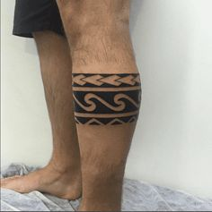 Tribal Wave Tattoos, Tribal Arm Tattoos For Men, Surfer Tattoo, Tribal Sleeve Tattoos, Leg Tattoo Men, Triangle Tattoos, Arm Tattoos For Guys, Simple Leg Tattoos, Best Leg Tattoos
