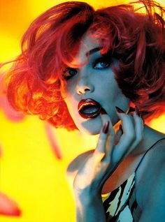 Javier Vallhonrat - brilliant colour. i am pretty sure this is Carla Bruni one of my fave french singers