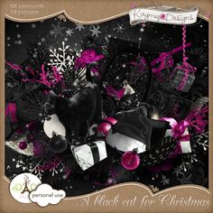 A black cat for Christmas by Kaymee Designs    http://digital-crea.fr/shop/index.php?main_page=product_info=155_227_id=11316#prettyPhoto