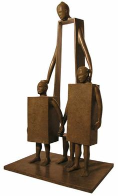 """Nice Children"" sculpture by Jean-Louis Corby - photo from Casart;  26"""