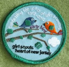 Girl Scouts Heart of New Jersey 100th Anniversary  Celebrating 100 Years of Girl Scouting Early Bird patch