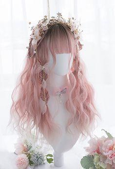 Kawaii Hairstyles, Pretty Hairstyles, Wig Hairstyles, Fantasy Hairstyles, Cosplay Hair, Cosplay Wigs, Fairy Cosplay, Elf Cosplay, Anime Wigs