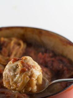 Stuffed cabbage is a delicious dinner, especially in cold weather.