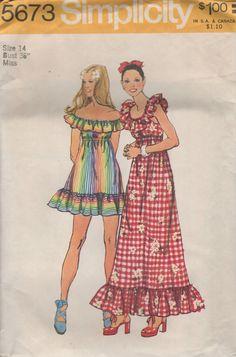 8d6b534425b4 Vintage 1973 - Simplicity 5673 Vintage Sewing Patterns, Clothing Patterns,  Simplicity Sewing Patterns,
