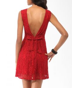Little red dress...super cute low back with bow!