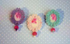 Boutique-romantique / * Boutique, Crochet Earrings, Brooch, Shop, Handmade, Jewelry, Fashion, Romantic, Moda