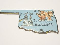 State of Oklahoma Magnet / $3.50 / theemae74 on Etsy