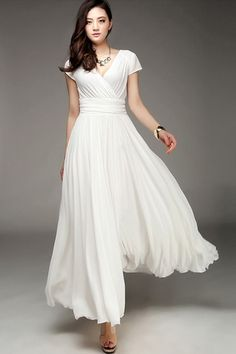 This was listed as a casual wedding dress, but it makes for a gorgeous beach dress either way.