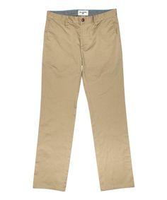 Dark Khaki Carter Chino Straight-Leg Pants - Boys