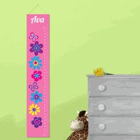 Wooden Ski Growth Chart  Kids Wood Height Chart  Personalized