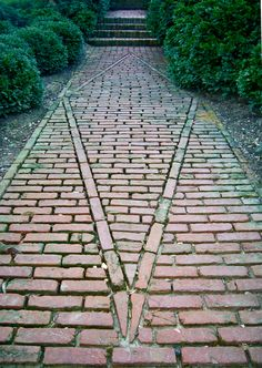 brick path at dumbarton oaks