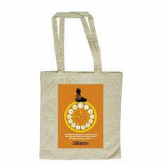 """""""You have thirteen hours in which to solve the Labyrinth, before your baby brother becomes one of us... forever."""" #Orange #Labyrinth #Movie #Film #Henson #Puppets #Tote #Bag #Fantasy #Bowie www.labyrinthmovie.co.uk"""