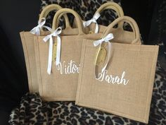 Beach Tote Bags, Canvas Tote Bags, Personalised Jute Bags, Bridesmaid Tote Bags, Burlap Tote, Wedding Gift Bags, Reusable Bags, Hampers, Cricut Ideas