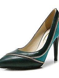 f35baa894c992 Chaussures Femme - Bureau   Travail   Habillé   Soirée   Evénement - Vert    Orange - Talon Aiguille - Talons   Bout Pointu - Talons - Cuir