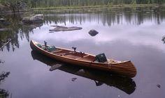 canoe in style handcrafted woodstrip