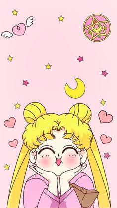 Sailor Moon Usagi Tsukino Phone Wallpapers Sailor Moon Us… - Modern Sailor Moon Manga, Sailor Moons, Arte Sailor Moon, Sailor Moon Tumblr, Sailor Moon Aesthetic, Aesthetic Anime, Kawaii Wallpaper, Cartoon Wallpaper, Wallpaper Quotes