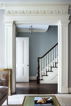 Home Design Labs - Original millwork, moulding, frieze, and framing. Hallway Colours, House Design, House, Interior, Georgian Homes, Georgian Interiors, Foyer Decorating, Home Decor, House Interior