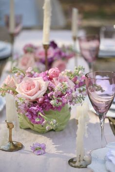 Spring Color- Cabbage Flower Arrangement  -  When I think of bold and beautiful colors   they might not be as bold as you might think.          And they might lean more 'romantic