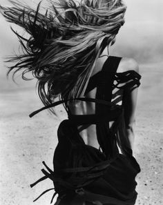 Nothing's better than an open back and wild wind-struck hair