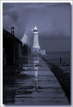 *Tynemouth Lighthouse near Newcastle