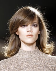 Side swept bangs while they grow out