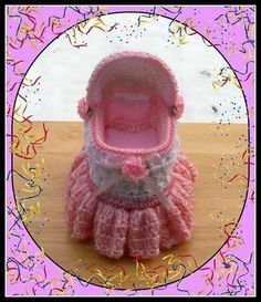 Bassinet Trinket Or Gift Box.Crochet Pattern