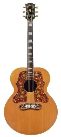 GALLERY: Vintage Gems from Christie's Guitar Auction - Premier Guitar Gibson Part of the property from the estate of Coy Martin, a staff guitarist on KMA Radio in Shenandoah, Iowa, this. Custom Acoustic Guitars, Gibson Acoustic, Gibson Guitars, Vintage Electric Guitars, Vintage Guitars, Ukulele, Guitar Chords, Unique Guitars, Guitars For Sale