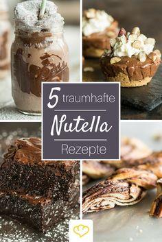 5 traumhafte Nutella Rezepte, die die Königin aller Nuss-Nougat-Cremes ehren wie keine andere! Ob Brownies, XXL-Cookie oder Milkshake - Nutella-Fans kommen hier voll auf ihre Kosten!