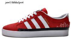 check out f1a12 66bf6 Zapatillas Adidas Originals Rayado Bajas Hombres Rojo Blanco Negro Outlet  Baratas Venta