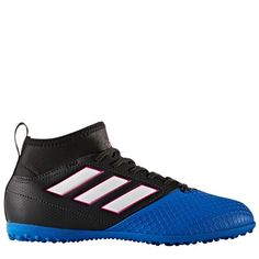 adidas Ace 17.3 Astroturf Trainers - Core Black White Blue - Kids Adidas Ace ac5c99e49e