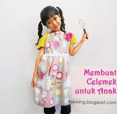 adorable apron, looks so easy..how cute this girl..