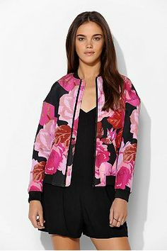 7b656937ad3c1a Cameo Lift Off Floral Bomber Jacket Floral Bomber Jacket