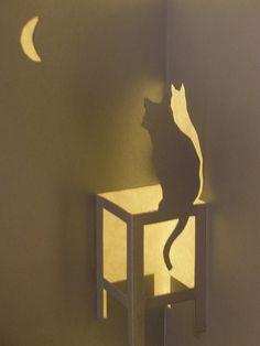 Cat, Kirigami by janularry, via Flickr