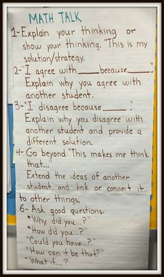 Math Coach's Corner: Anchor Charts to Support Math Workshop