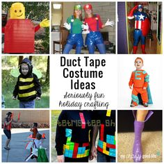 Looking for duct tape costume ideas? You have come to the right place! Karen of Desert Chica Ramblings scoured the internet to find these awesome ideas for you!