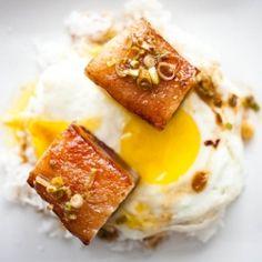 Crispy Pork Belly (put an egg on it!)