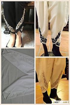 Embroidered Tulip Shalwar / Pants / Cigarette Trouser **UK STOCK FAST DELIVERY**