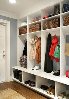 Painted White - Contemporary/Traditional - contemporary - kitchen - huntington - by Mountaineer WoodCraft...cubbies in mudroom