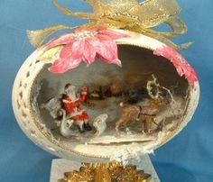 Egg Design Craft - decorated Faberge style egg art.