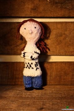 Absolutely adorable! The Killing Handbook knits - Little Knitted Sarah Lund by Deadly Knitshade, via Flickr