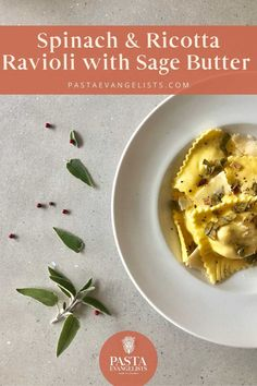 Our spinach and ricotta ravioli recipe includes fresh, handmade ravioli parcels that lovingly house spinach, light and creamy ricotta and bright lemon zest, topped with a luscious sage butter. Homemade Ravioli, Ravioli Recipe, Spinach And Ricotta Ravioli, Ravioli Filling, Sage Butter, Walnut Pesto, Pasta Maker, Pasta Recipes, Noodles
