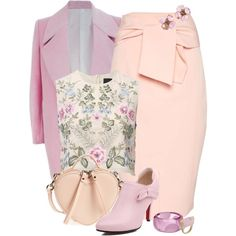 Pink Floral by feelgood35 on Polyvore featuring мода, Needle & Thread, FAIR+true, Topshop, Marc Jacobs, First People First, Chanel and Marc by Marc Jacobs