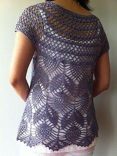 Ravelry: Jamie - short sleeve vest by Vicky Chan