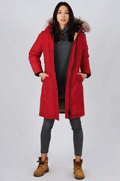Women's winter down coat, 725 fill power. Arctic Bay - Made in Canada. Winter Jackets Women, Down Coat, Fashion 2020, Arctic, Rib Knit, Parka, Gray Color, Charlotte, Raincoat
